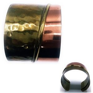 Copper & Brass Metal Cuff Bangle